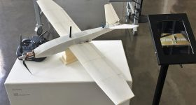 McNeal's 3D printed drone on display. Image via Autodesk