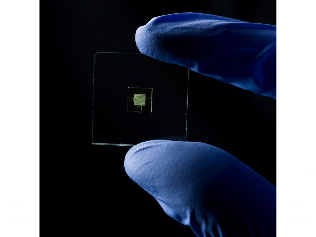 A microfluidic lab-on-a-chip 3D printed at your fingertips. Photo by Jaren Wilkey/BYU © BYU PHOTO 2017