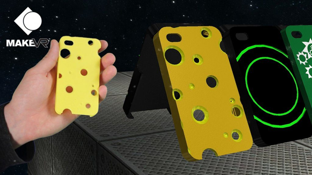 Really gouda phone case made in MakeVR Pro. Image via Viveport