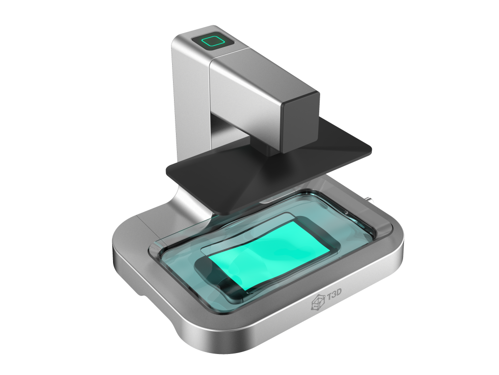 T3D prints using an exclusive app. Rendered image of the Mobile 3D Printer via T3D.