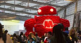 BalloonBot by Airigami at World Maker Faire New York 2016 Photo via REUTERS/Andrew Kelly