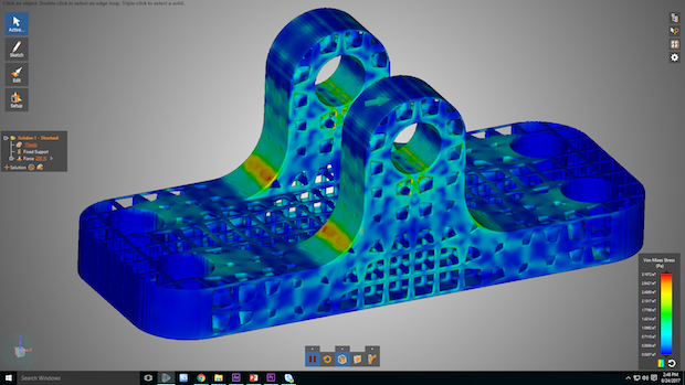 Instant structural analysis of components is now possible with Discovery Live. Image via ANSYS