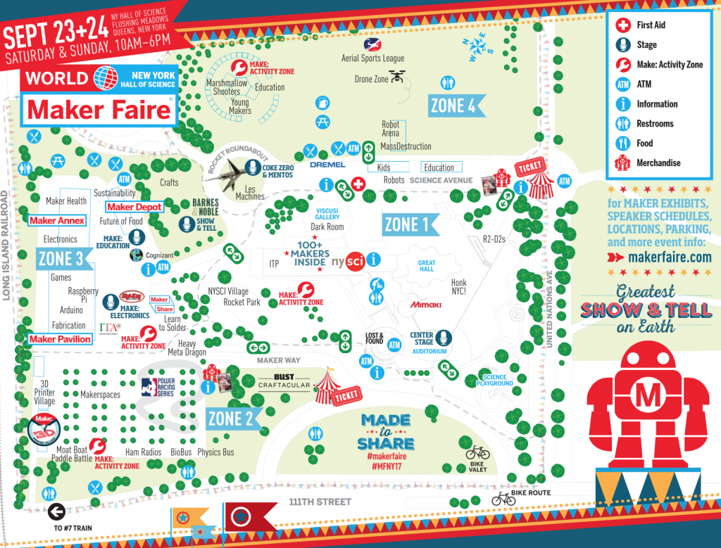 All the zones in this year's World Maker Faire. Image via Maker Faire NYC.