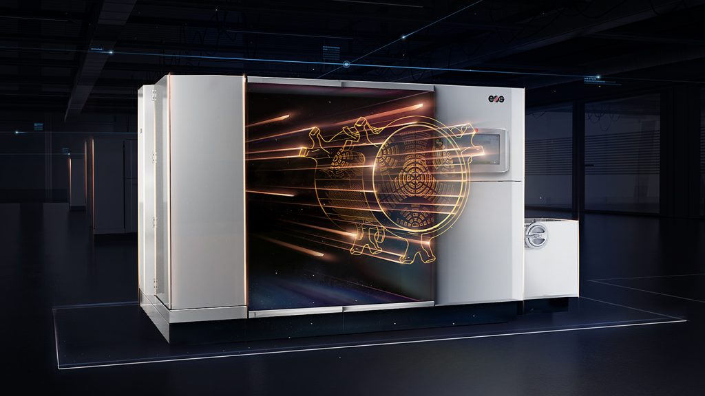 Graphic demo of the EOS P 500 polymer 3D printer. Image via EOS