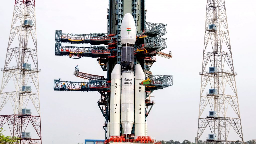 The GSLV MKIII rocket, which carried GSAT-19 into space. Photo via Firstpost