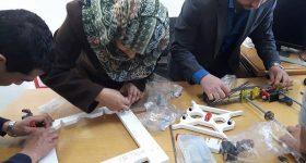 Glia project members assemble a 3D printer. Picture via: Twitter/@trklou