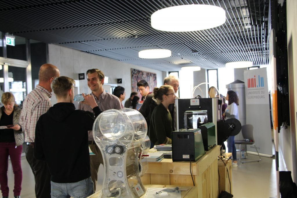 3D printing project based learning (PBL) at the University of Luxembourg. Photo by Claude Wolf