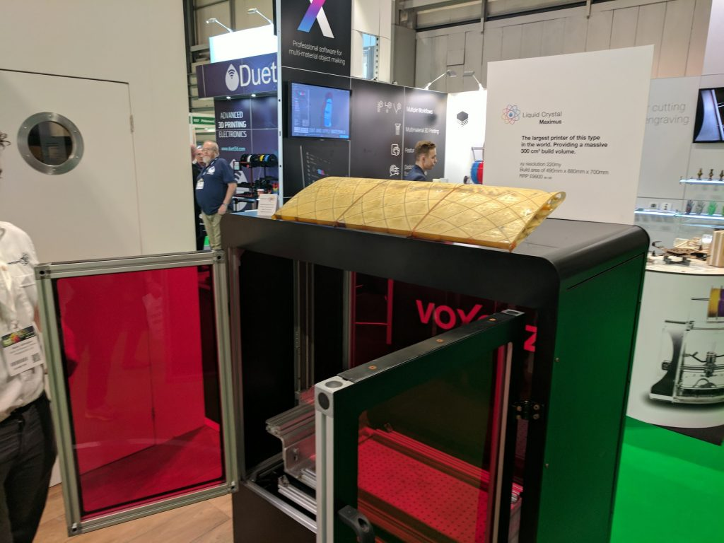 Liquid Crystal Maximus 3D printer. Photo by Michael Petch.