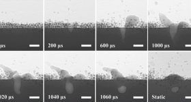 High speed x-rays of the metal additive manufacturing process captured at Argonne National Laboratory. Image via ANL