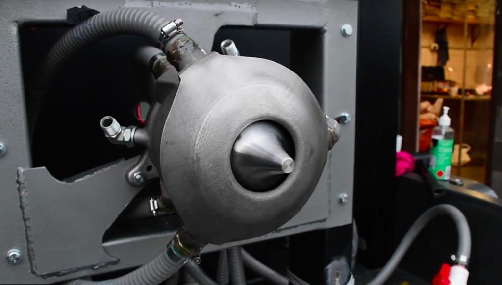 The Aerospike design of the engine. Image via: Monash University
