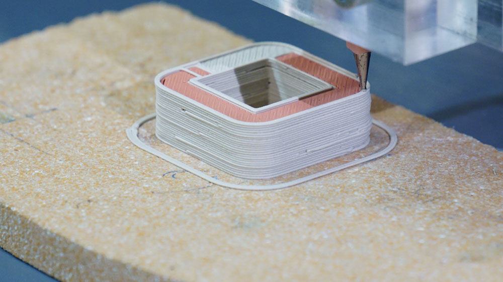 Even printing of an electric motor using a ViscoTec print head. Photo via ViscoTec