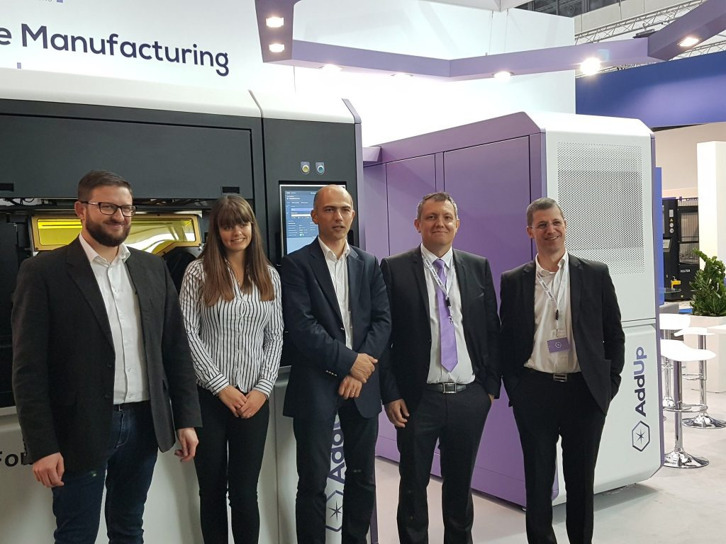 The AddUp team at EMO Hannover 2017. Photo via David Muller (@dmu_01) Industry Business Development manager at AddUp