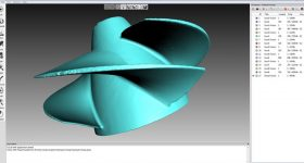 Artec's CAD software used to fine-tune a scan of a damaged impeller. Image via Artec.