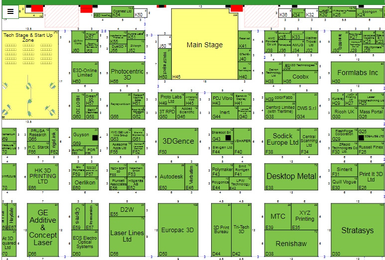 Snippet of the TCT 2017 floorplan. Image via TCT Show