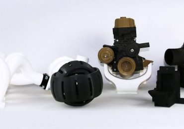Sharebot 3D printed mechanical parts. Photo via Sharebot
