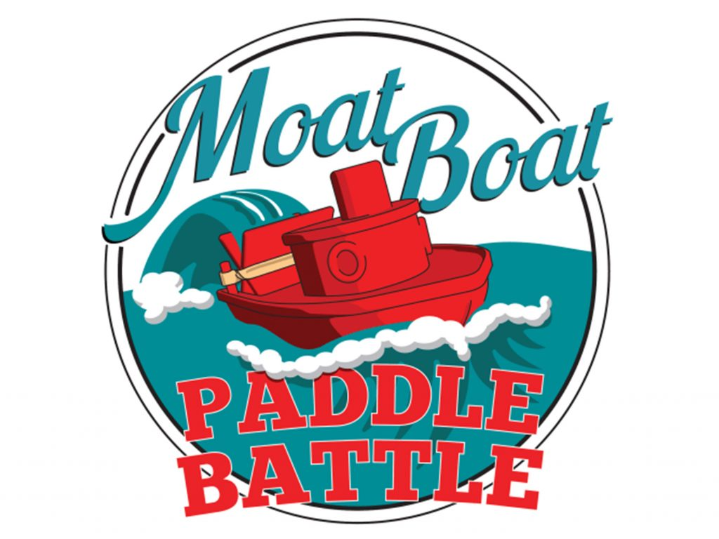 Challenge accepted: race it out with 3D printed boats in Ocean State Maker Mill Moat Boat Paddle Battle. Image via MBPB