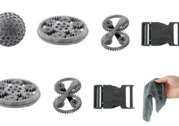 High Speed Sintering (HSS) 3D printed parts. Photo via voxeljet