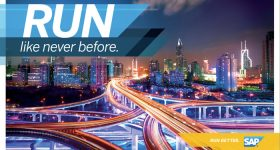 SAP's run like never before software motto. Image via SAP