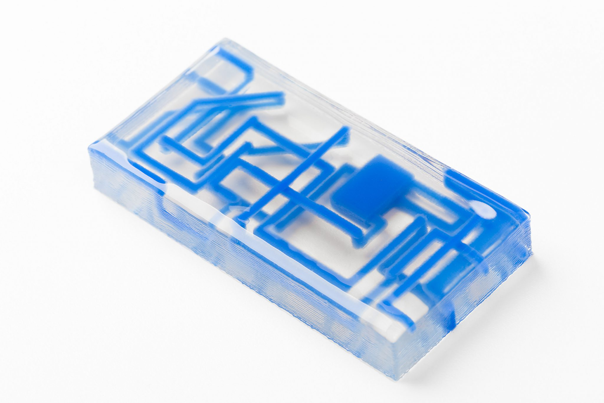A sample of ACEO multimaterial 3D printed silicone. Photo via ACEO