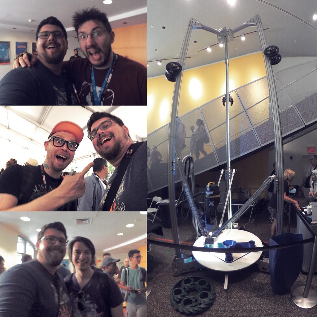 3D Printing Nerd, Press Reset, Makers Muse and SeeMeCNC at NYC Maker Faire 2017. Photos by Steve Abrams.