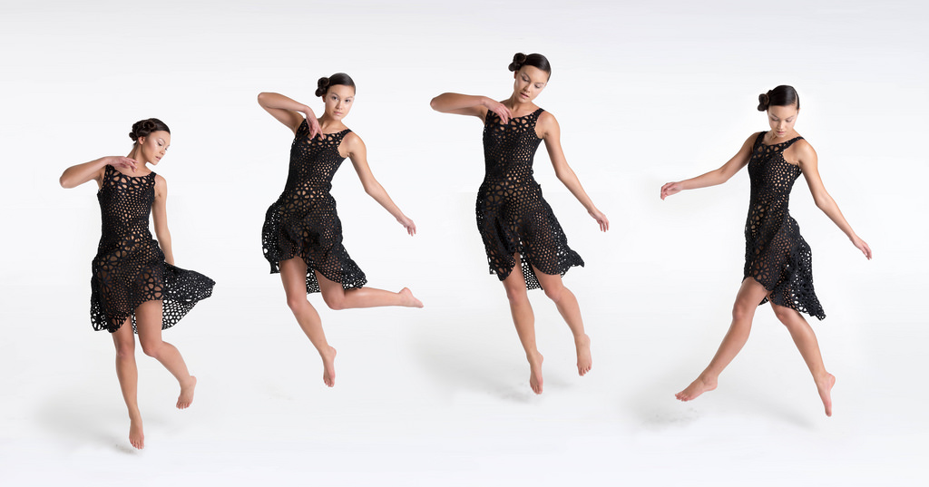 Nervous Systems' 3D printed Kinematics Dress. Image via Nervous System