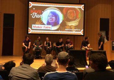 3D printing maker panel at NYC Maker Faire 2017. Photo by Steve Abrams