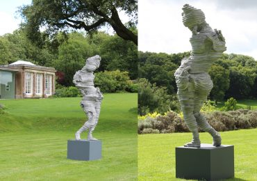 """Slave"" from two views at the New Art Centre, Salisbury. Photos via New Art Centre."