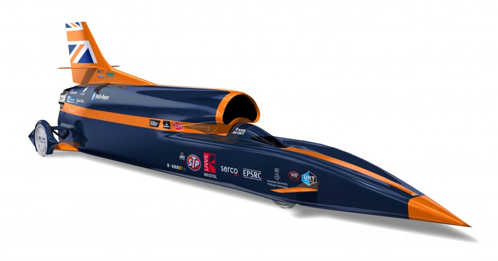 The distinct appearance of the Bloodhound SSC. Image via Renishaw.
