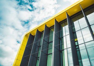Cranfield University's new Aerospace Integration Research Centre (AIRC) in the sun. Photo via Cranfield University