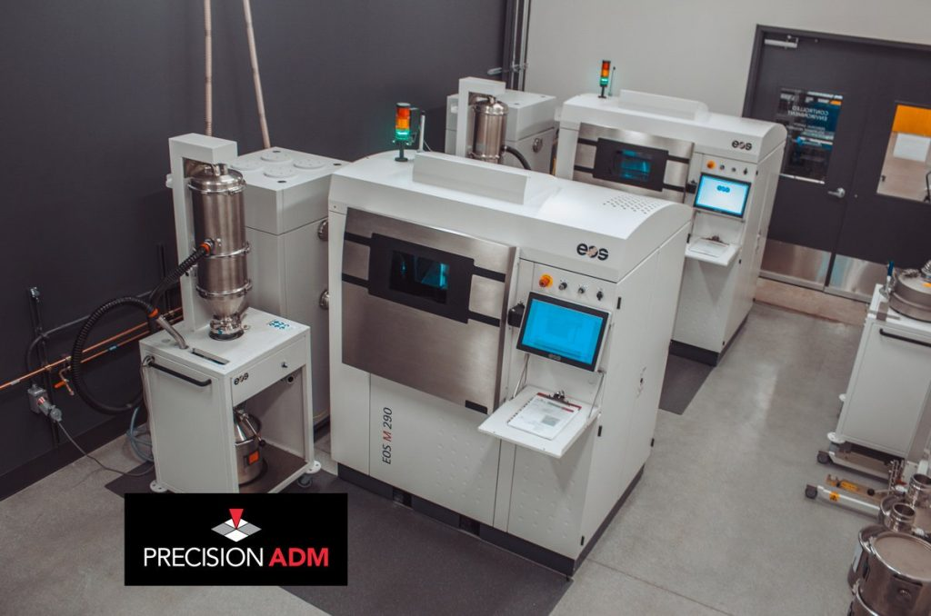 A fleet of EOS M 290 machines. Photo via Precision ADM