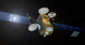 Graphic representation of the EUTELSAT 172B satellite. Image via Airbus Defence and Space