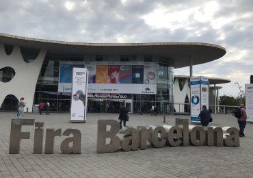 The enterance to Fira Barcelona. Photo by Beau Jackson.