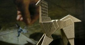 Gaff's Unicorn from Blade Runner. Photo via Shapeways user Andromeda Trade Collective.