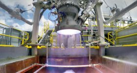 Ignition of the Relativity Space Aeon engine. Photo via Relativity Space.