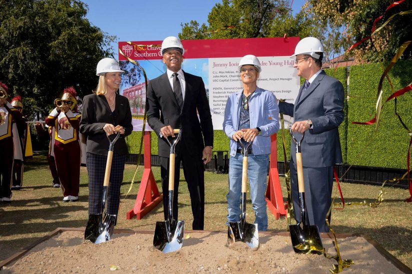 Iovine-Young ground breaking ceremony. Photo via Gus Ruelas/USC.