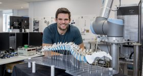 Joe Meeks, who developed the technology as part of his MSc project. Photo via Nottingham Trent University