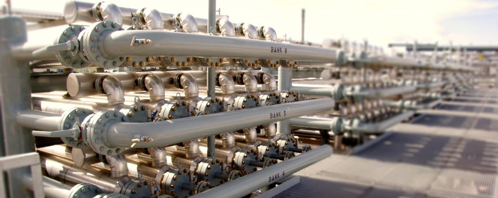 Membrane industrial gas separation units. Photo via ProSep