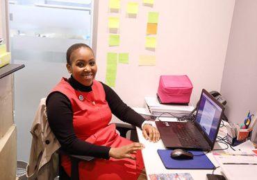 Nkholise, founder of iMed Tech in her office. Photo via Twitter/@nneile.