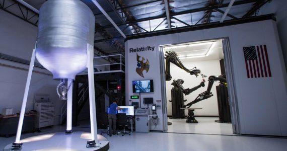 The Stargate 3D printer at Relativity Space HQ. Photo via Relativity Space.