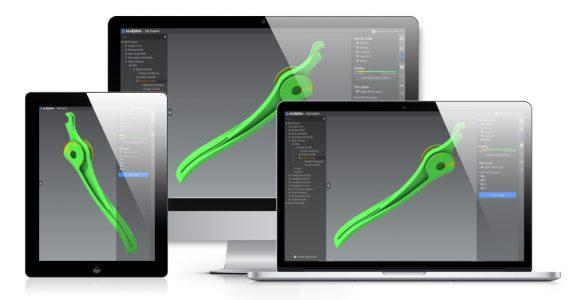 CAD modeled brake component in Fabpilot. Image via Sculpteo