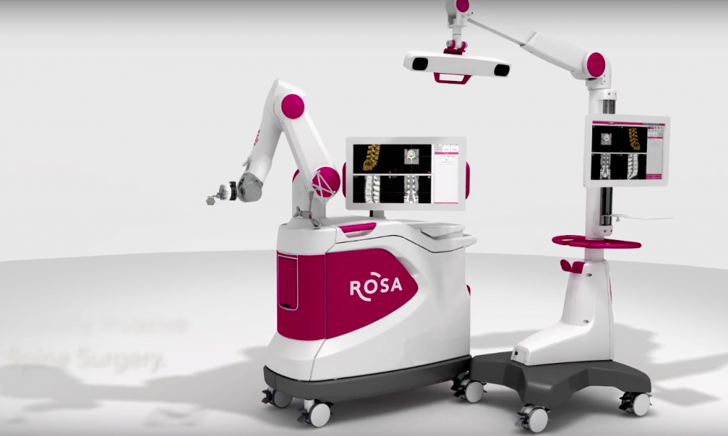 The ROSA surgical robot used in the procedure. Image via Med Tech.