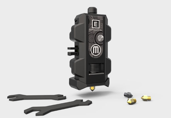 New Makerbot Labs experimental extruder with interchangeable print heads. Image via Makerbot.