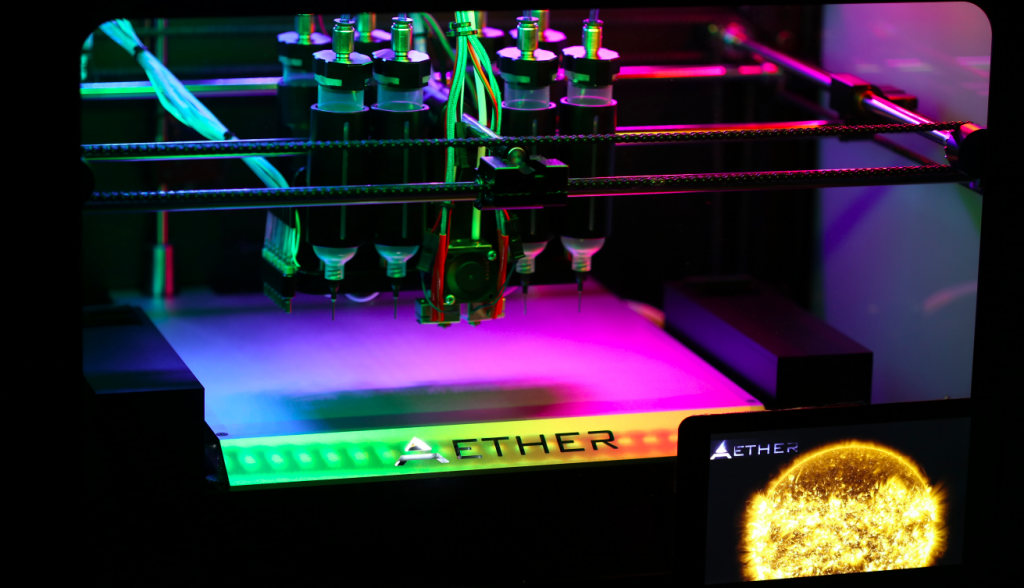The Aether 1 bio-printer. Photo via Aether.