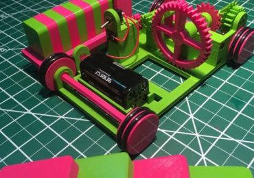The Pink and Green Domino Machine