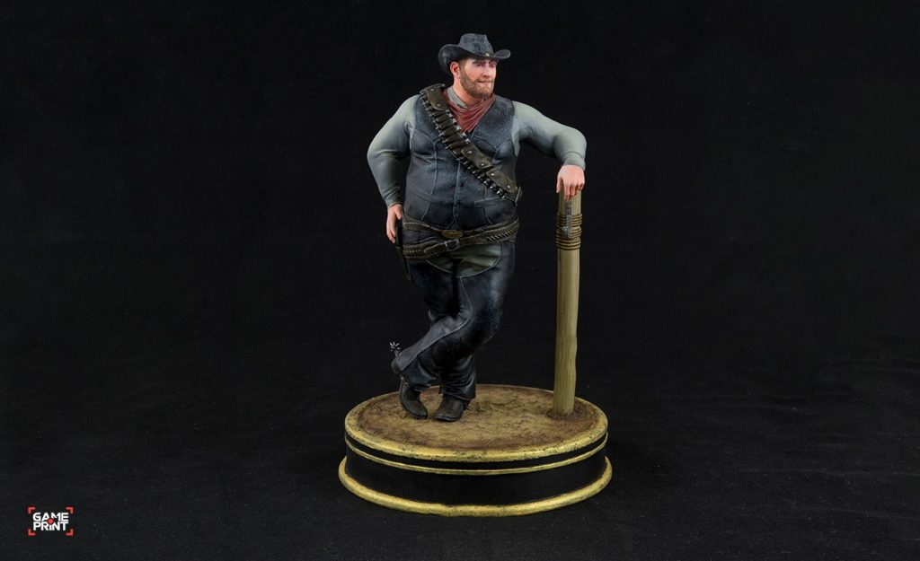 A 3D printed a painted model using the GamePrint plugin. Photo via GamePrint/Daz 3D