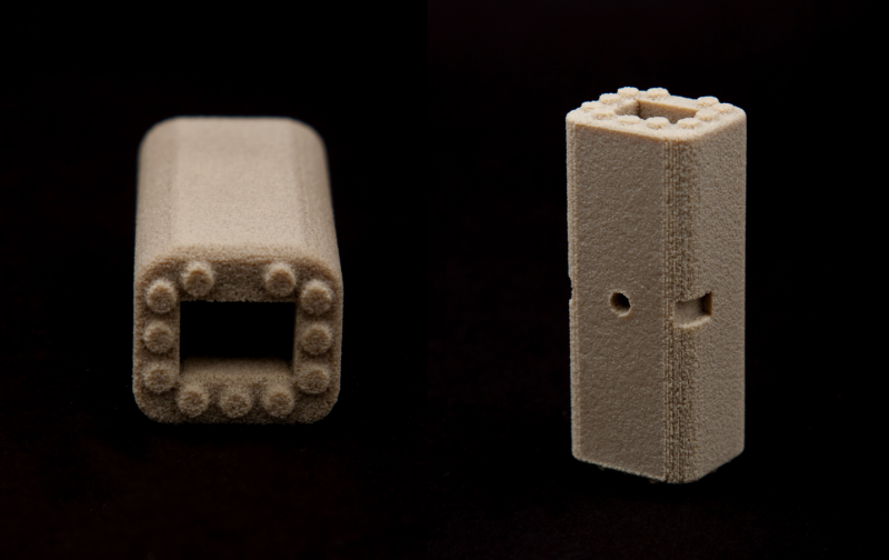 A SpineFab® Vertebral Body Replacement (VBR) System 3D printed by OPM's Osteofab process. Photo via Oxford Performance Materials