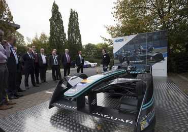 A Jaguar Formula E racing car developed at the innovation centre. Photo via GKN.