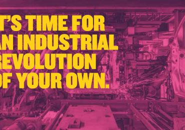 It's time for an industrial revolution of your own. MadeSmarter.uk branding material. Image via The Made Smarter Review Report