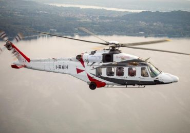 The Leonardo AW189K helicopter, specially built to accommodate the Aneto 1-k engine.