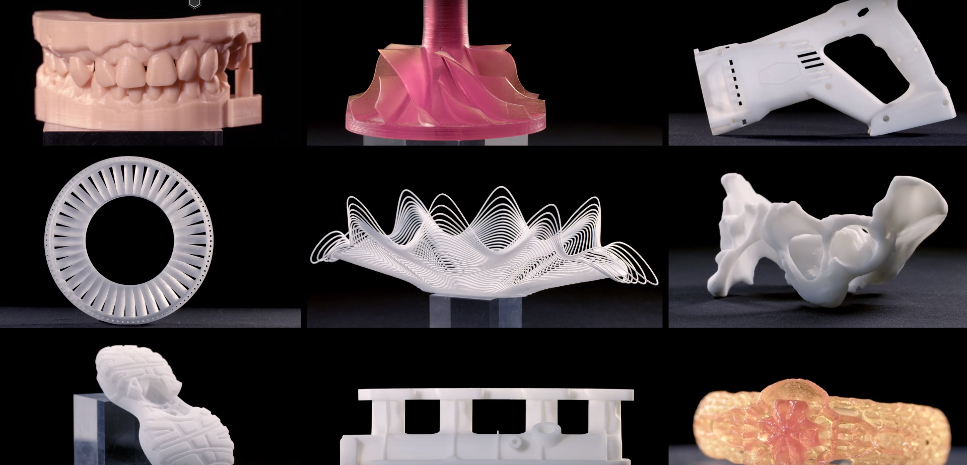 3D printed products from Prodways. Image via Prodways